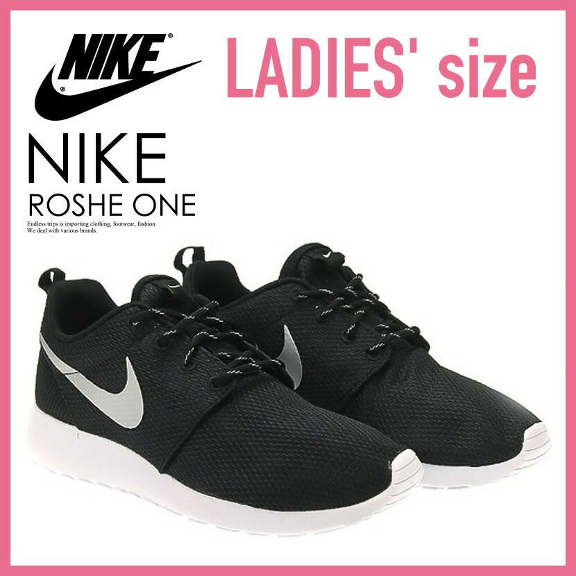 11b91a115e217 NIKE (Nike) ROSHE ONE Losey one ROSHERUN low silane WOMENS sneakers  BLACK METALLIC PLATINUM-WHITE black   white (511882 094) ROSHEONE ENDLESS  TRIP pickup