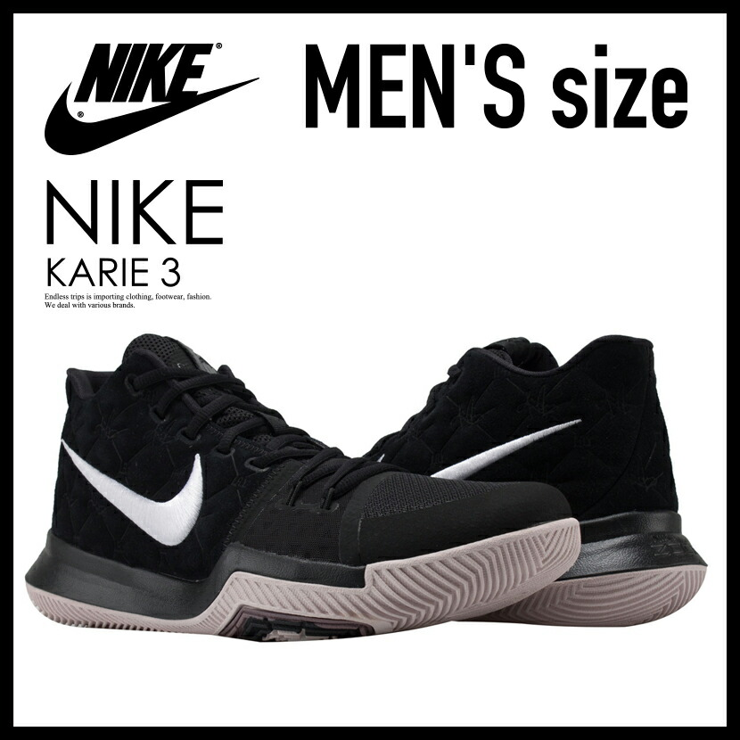 timeless design 80de5 65275 Rakuten supermarket SALE! NIKE (Nike) KYRIE 3 (chi Lee 3) MENS sneakers  basketball shoes BLACK/WHITE-SILT RED (black / red) 852395 010 ENDLESS TRIP  ...