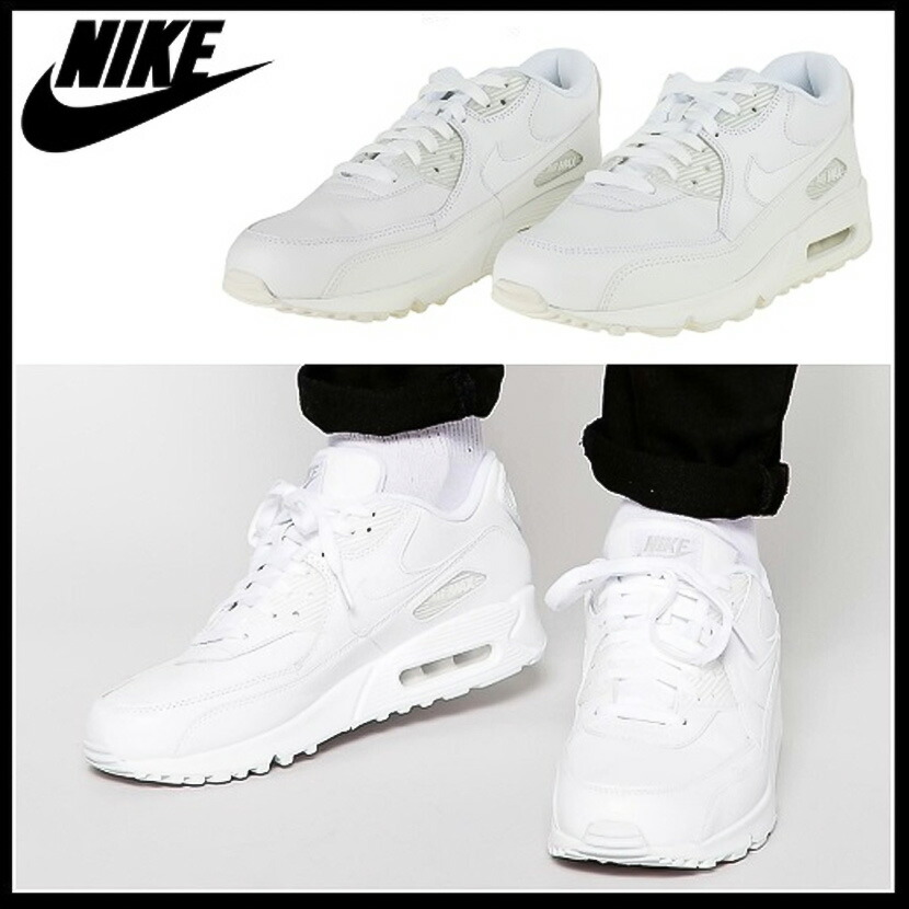 NIKE (Nike) AIR MAX 90 LEATHER (Air Max 90 leather) men's sneakers (WHITEWHITE) white (302519 113) ENDLESS TRIP pickup