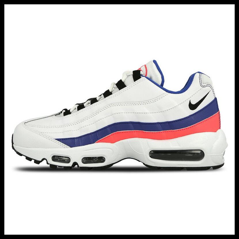 Rakuten black Friday! NIKE (Nike) AIR MAX 95 ESSENTIAL (Air Max 95 essential) sneakers WHITEBLACK SOLAR RED (white black blue red) 749766 106