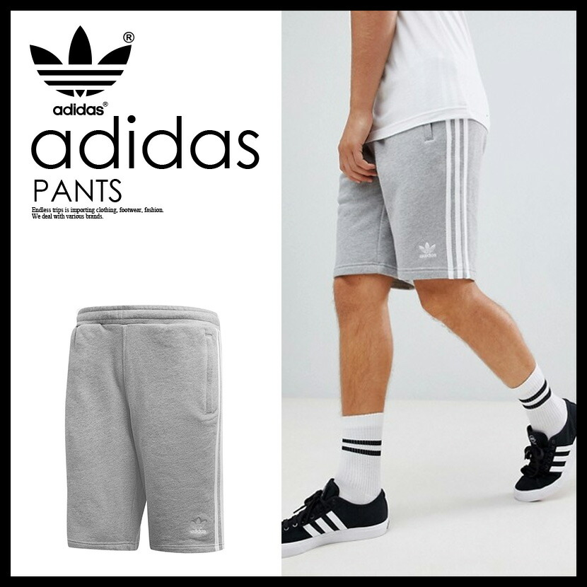 adidas (Adidas) 3 STRIPES SHORTS (3 stripe shorts) MENS short pants jersey MEDIUM GREY HEATHER (gray) DH5803 ass recreation sports mixture