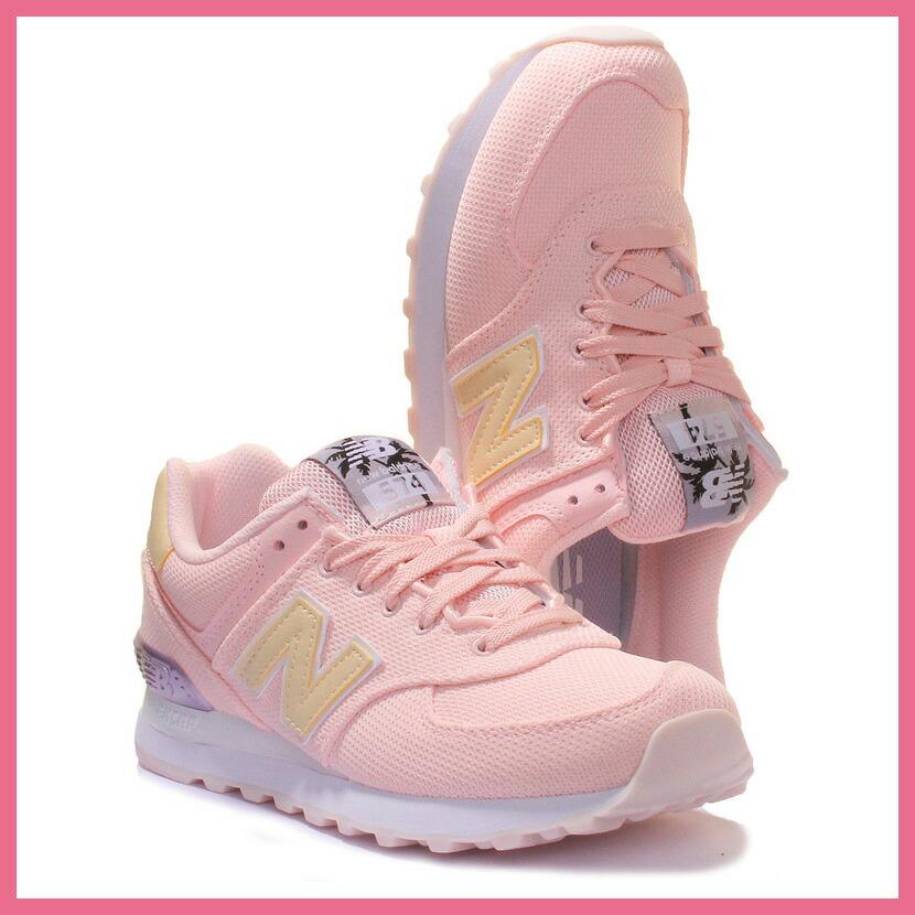 NEW BALANCE (New Balance) 574 MIAMI PALMS SNEAKER Miami palm sneakers SUNRISE GLOCOSMIC SKY (sunrise glow Kozu mixture chi) pink WL574MIB pickup
