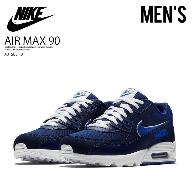 best website bbb90 edf99 NIKE (Nike) AIR MAX 90 ESSENTIAL (Air Max 90 essential) sneakers BLUE  VOID/GAME ROYAL-WHITE (navy / blue) AJ1285 401 ENDLESS TRIP ENDLESSTRIP end  rest ...