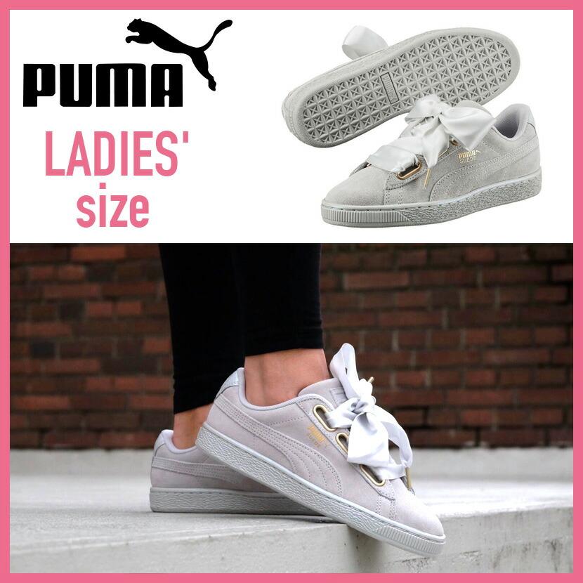 ENDLESS TRIP  PUMA (Puma) SUEDE HEART SATIN WOMEN S (suede heart ... 5523e0650