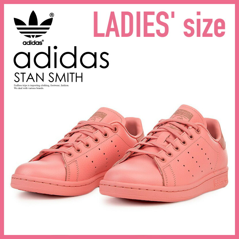adidas (Adidas) STAN SMITH J (Stan Smith) WOMENS kids sneakers TACROSTACROSRAWPIN (pink) CP9809 ENDLESS TRIP