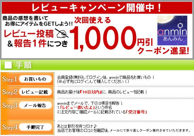 着後レビューで1,000円引クーポンプレゼント
