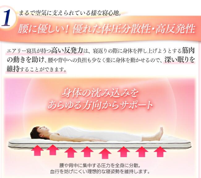【送料無料】腰に優しい!寝返りしやすい!体圧分散四季布団 エアリー敷布団 SAR-S シングル 通年使える四季布団 アイリスオーヤマ 軽量 腰にやさしい