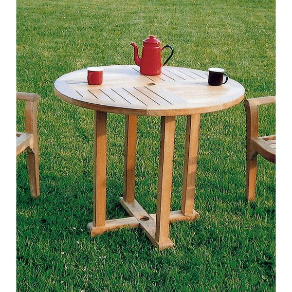 チークの丸テーブル0909(直径90cm・高さ71cm)