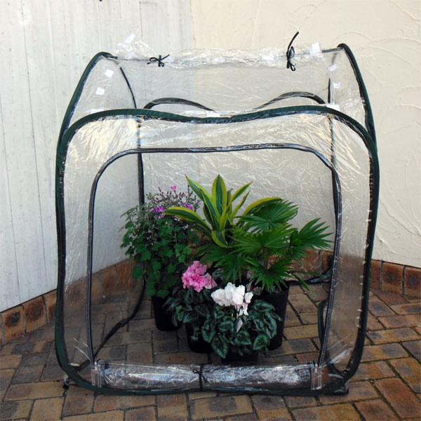 ビニール温室ガーデンハウス L(幅95×奥行き95×高さ110cm)