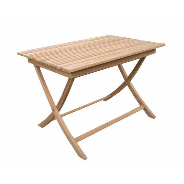 チークの折り畳みスクエアテーブルA