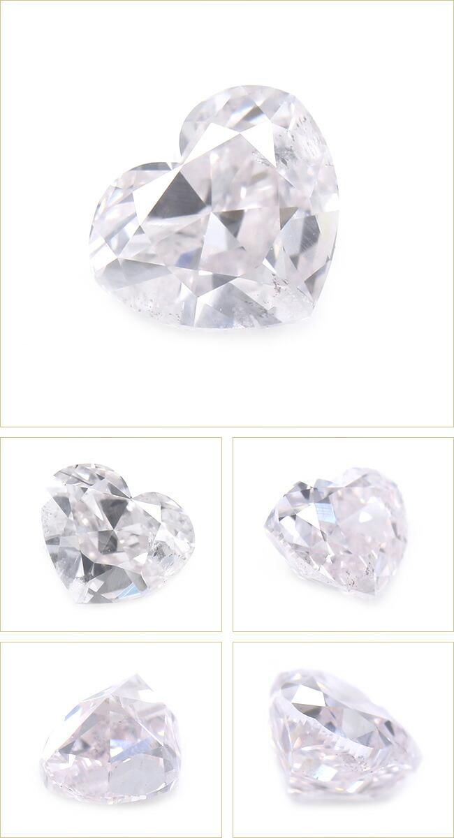 ピンクダイヤモンド Fancy Pink ピンクダイヤ 0.4ct 0.4カラット 中央宝石研究所 鑑定書 SI 0.457ct ハート ハートシェイプ