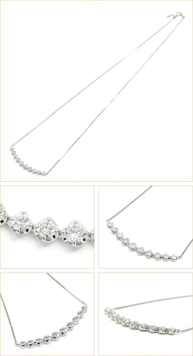 10ピース ダイヤモンド ライングラデーション ネックレス