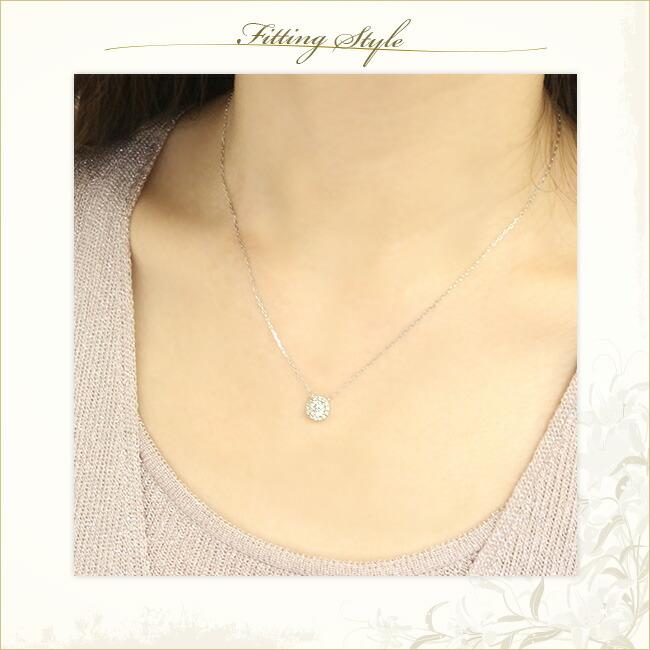 ダイヤモンド フラワーネックレス -銀座のジュエリーショップ ENJUE-