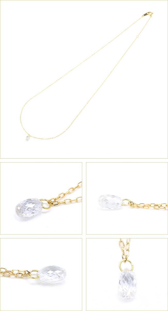 ブリオレット ダイヤモンド ネックレス -銀座のジュエリーショップ ENJUE-