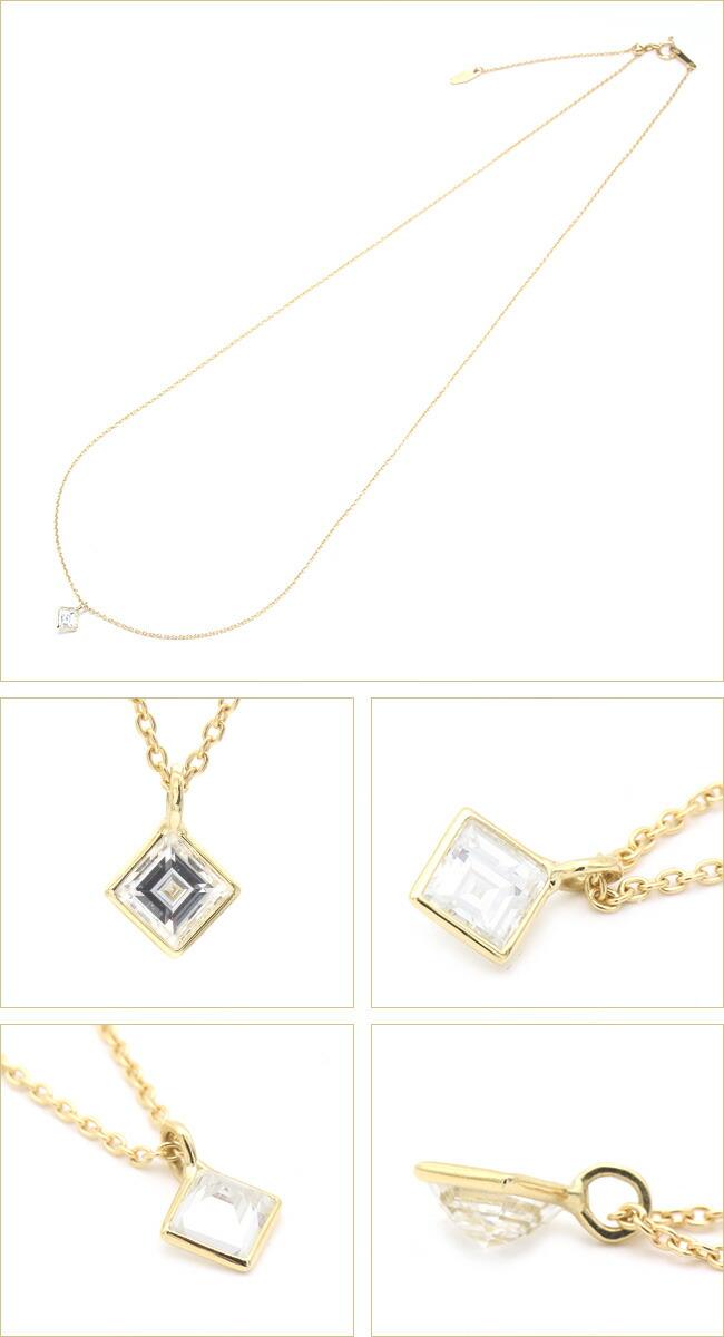 カレイカット ダイヤモンド ネックレス -銀座のジュエリーショップ ENJUE-