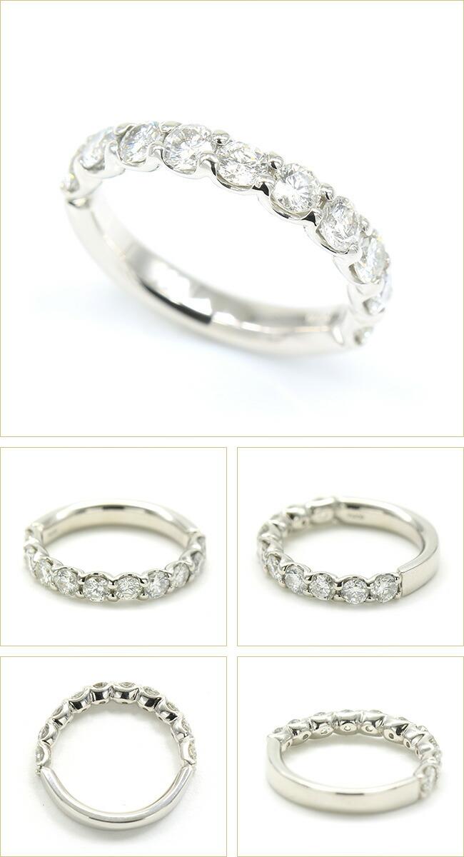 ハーフエタニティリング 10ピース エタニティ ダイヤモンド ダイヤ 1.0ct 1カラット 1ct -銀座のジュエリーショップ ENJUE-