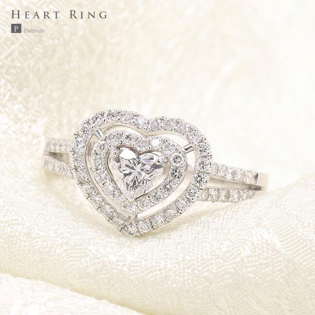 ハートシェイプカット ダイヤモンドリング ハート ハートダイヤ ダイヤ 0.3ct  可愛い プレゼント ギフト 0.3ct ブライダル エンゲージリング -銀座のブライダルジュエリーショップ エンゲージリング ENJUE-
