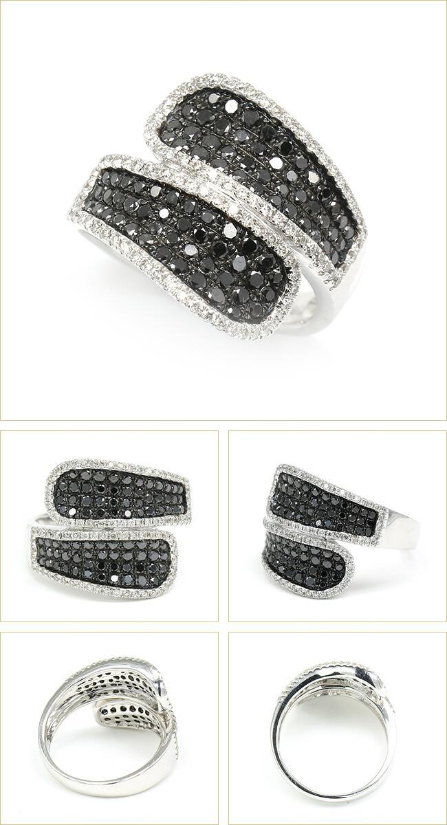 ダイヤモンド パヴェリング ブラックダイヤ ホワイト -銀座のジュエリーショップ ENJUE-