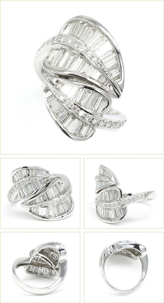 ダイヤモンド テーパーダイヤ リーフ 葉 モチーフ -銀座のジュエリーショップ ENJUE-
