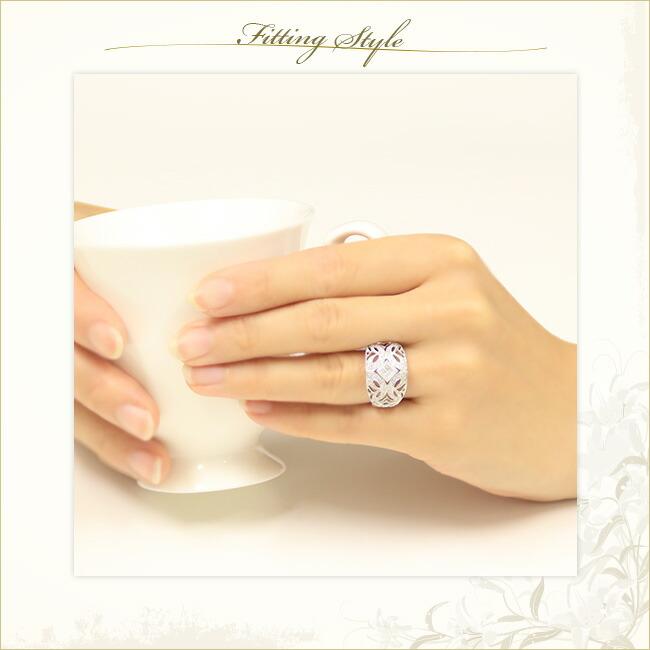 ダイヤモンド・プリンセスカット・アンティーク・リング -銀座のジュエリーショップ ENJUE-