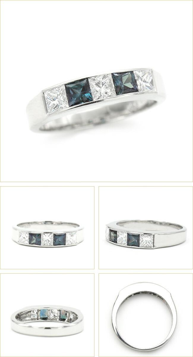 アレキサンドライト  ダイヤモンド リング   Pt900 プラチナ -銀座のジュエリーショップ ENJUE-