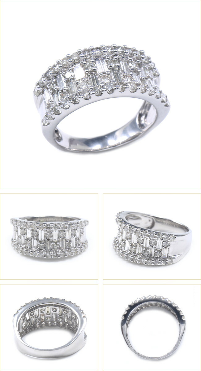 ダイヤモンド バケットカット ダイヤ リング -銀座のジュエリーショップ ENJUE-