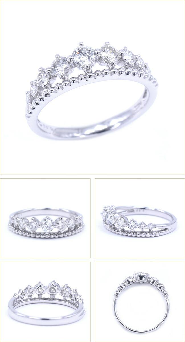 ダイヤモンド ティアラ ティアラリング クラウン ダイヤ リング -銀座のジュエリーショップ ENJUE-