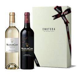 【送料・紙箱込み・説明付き】フランス産ムートン・カデ紅白ワイン3,000円ギフトセット