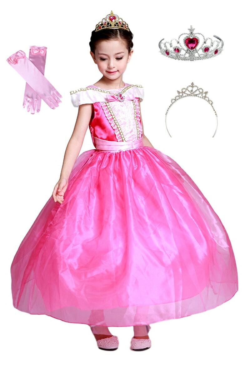4d34a355c9e45 楽天市場 オーロラ姫 ドレス ワンピース 子供用 こども コスプレ 衣装 ...