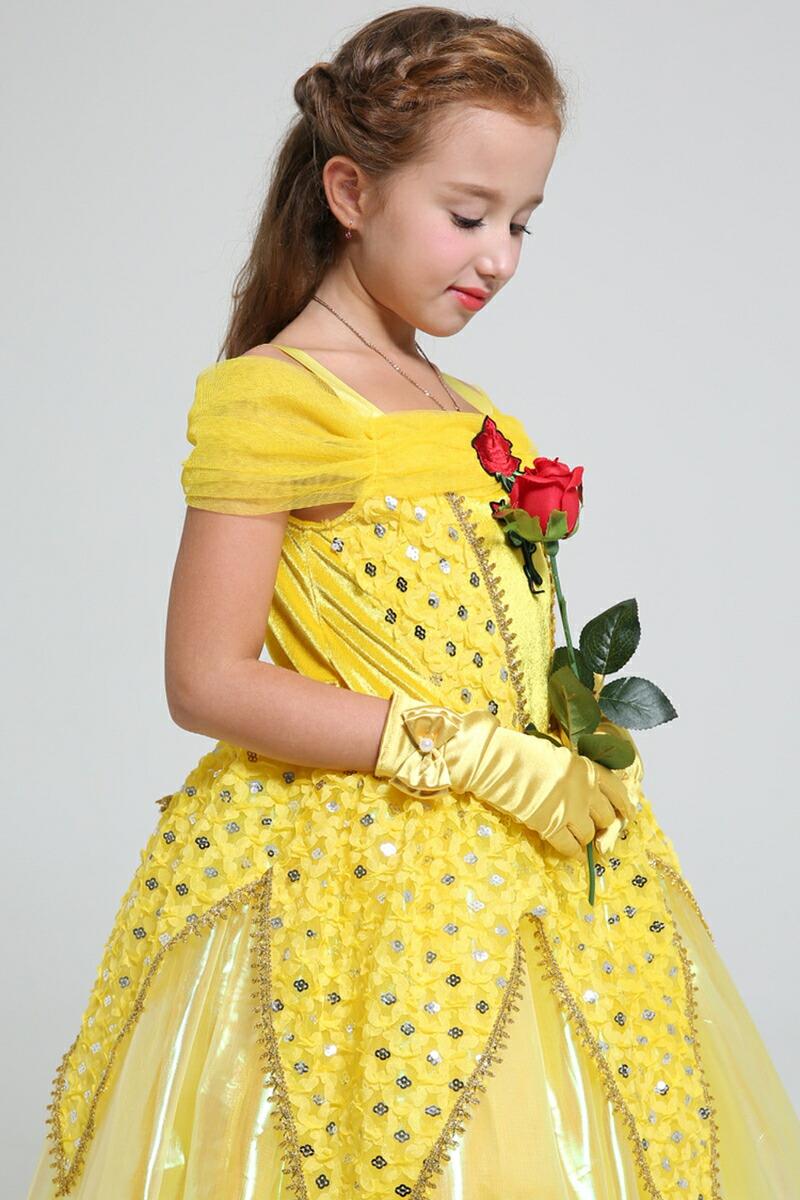 e8dd3ed5631d3 楽天市場 プリンセス ドレス ロング 子供 女の子 衣装 ベル コスプレ ...
