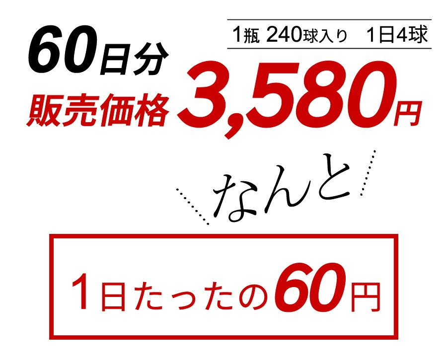 1日58円の手軽さ