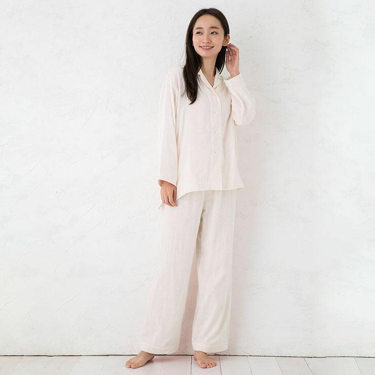 コットンシルク 3重織りガーゼ パジャマ 上下セット 日本製