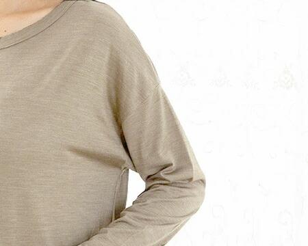 女性らしいフォルムの長袖デザイン