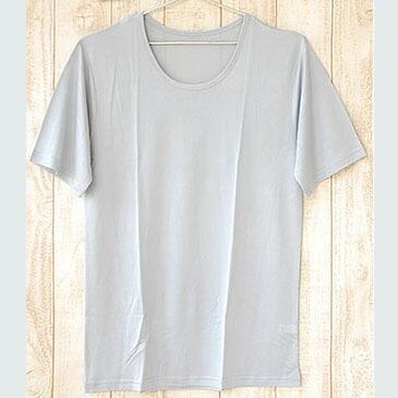 シルク メンズ半袖シャツ