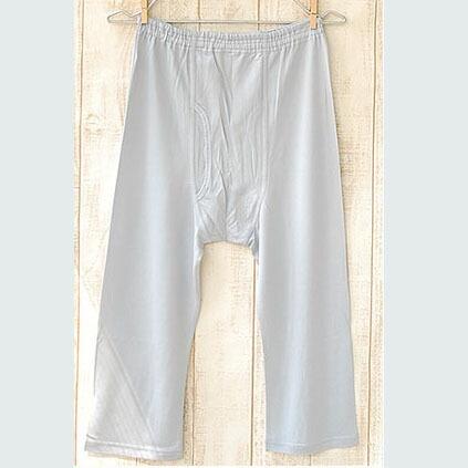 シルク メンズ7分丈パンツ