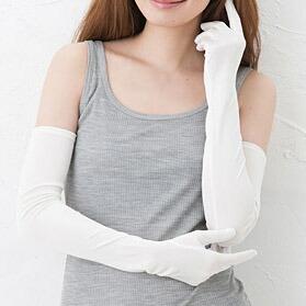 UVカット シルク ロング手袋