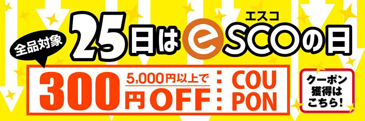 2019 8月エスコの日 300円OFFクーポン獲得