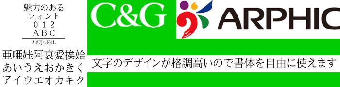 AR明朝体L Windows版TrueTypeフォント【C&G】