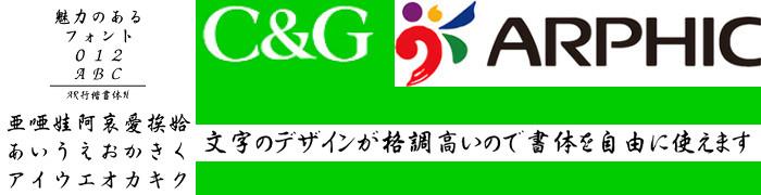 AR行楷書体H (Windows版 TrueTypeフォントJIS2004字形対応版) 【C&G】