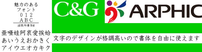 AR教科書体M Windows版TrueTypeフォント【C&G】