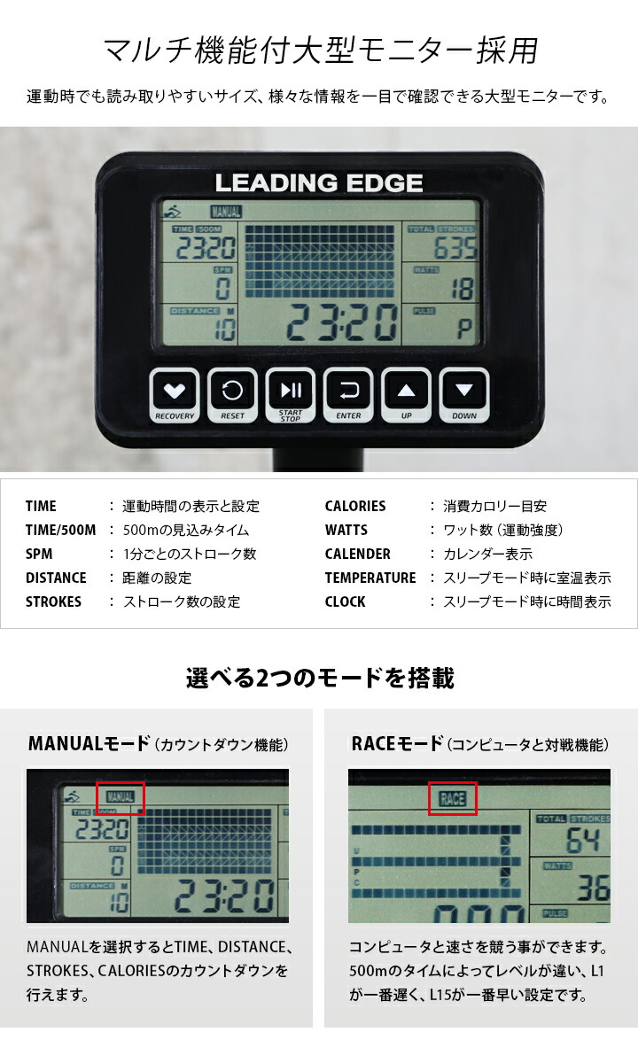 マルチ機能つき大型モニター採用 le-wr200