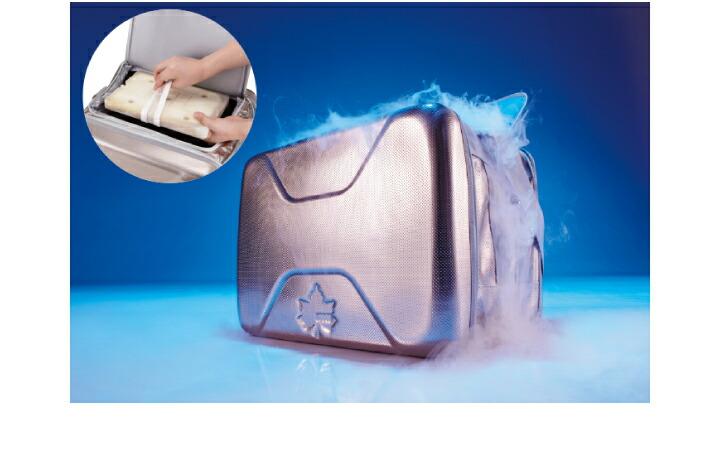 別売りの氷点下パックとの併用で、「驚異の保冷力」!アイスクリームを最大7時間保存できる