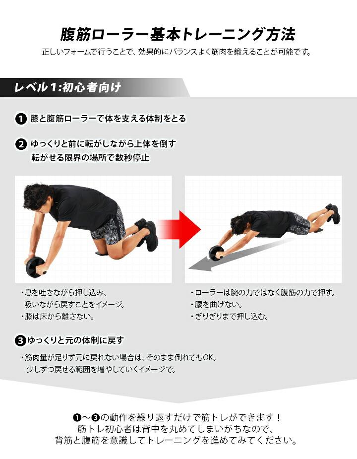 腹筋ローラー基本トレーニング方法