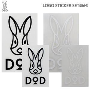 DOD ロゴステッカー4枚セット(S&M) ST1-658-BW ゆうパケット 送料無料