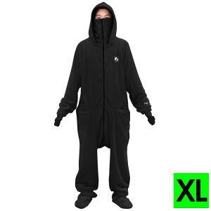 部屋着 着る毛布 ルームウェア ダメ着2020 HHFD-BS-XL-BK XLサイズ ブラック 送料無料【SP】