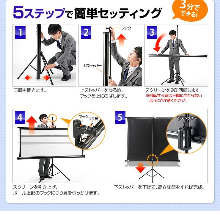 5ステップで簡単セッティング