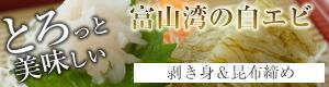 富山の白エビの昆布締めとむき身のセット