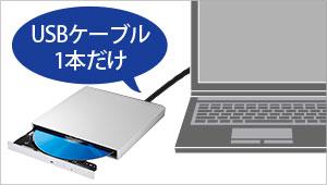 USB 3.0のケーブル1本で動くバスパワー駆動