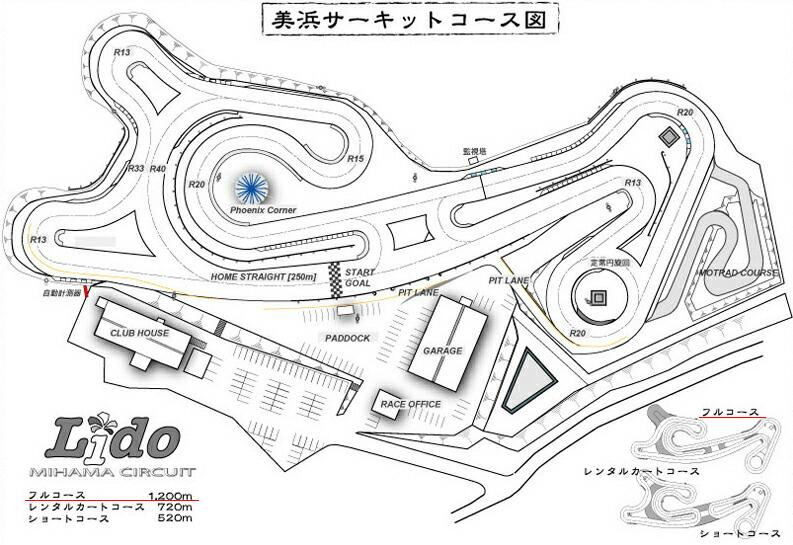 美浜サーキットコース図面
