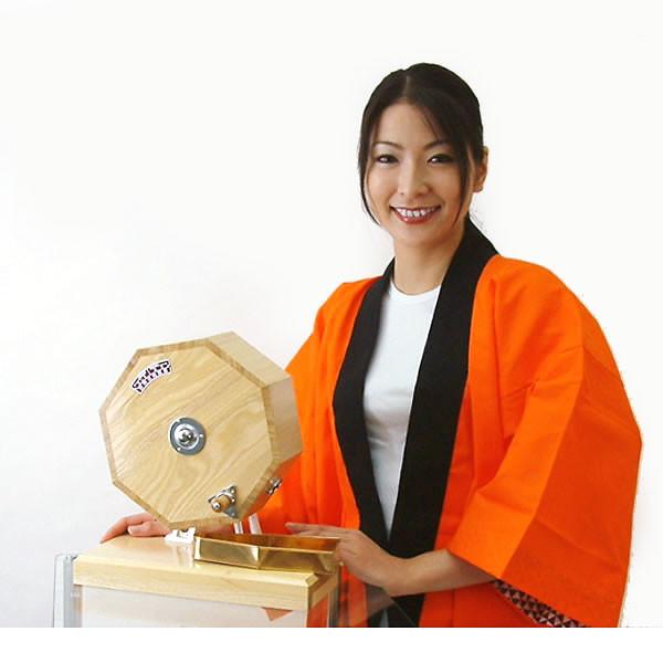 イベントグッズ/抽選用品/高級タイプ木製ガラポン[ガラガラ]福引抽選器 500球用 国産